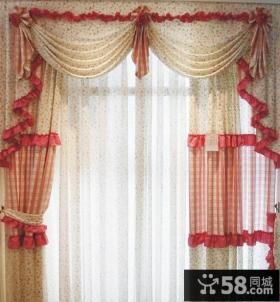 客厅窗帘效果图 欧式客厅窗帘图片