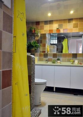 现代简约卫生间家居装饰效果图片