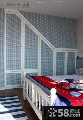 儿童房卧室柜子效果图