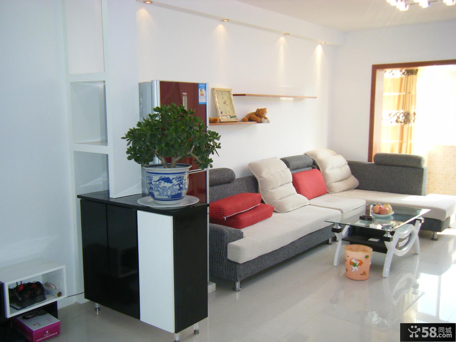 简约风格两居室客厅沙发装修效果图