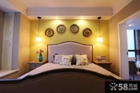 田园家居卧室床头吊灯图片
