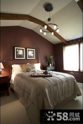 美式装修效果图卧室图片