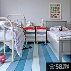 双人儿童房床设计图片