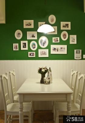 简欧风格餐厅照片墙效果图