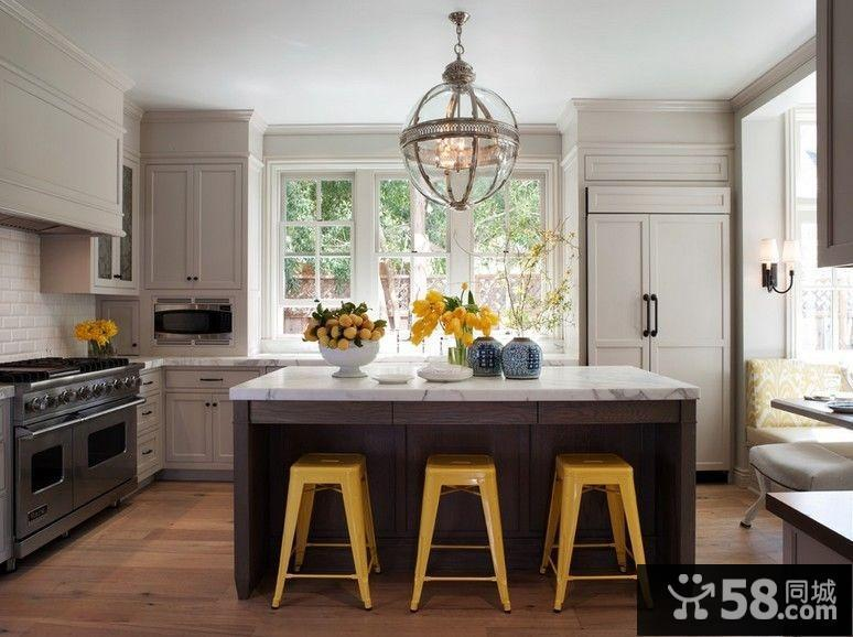 两房一厅欧式风情厨房装修效果图大全2014图片
