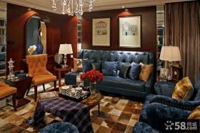 美式低调奢华的客厅装修效果图大全2012图片