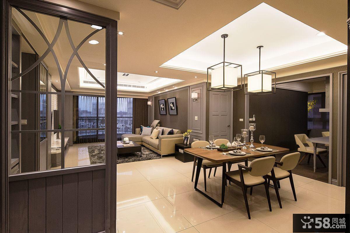 现代精装修97平米两室两厅户型效果图欣赏