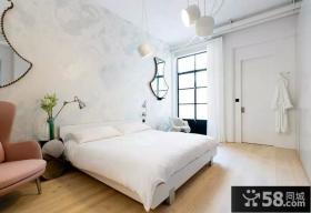 北欧工业风格复式家装卧室效果图