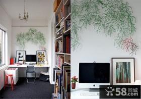 现代简约家庭书房装修效果图大全2014图片