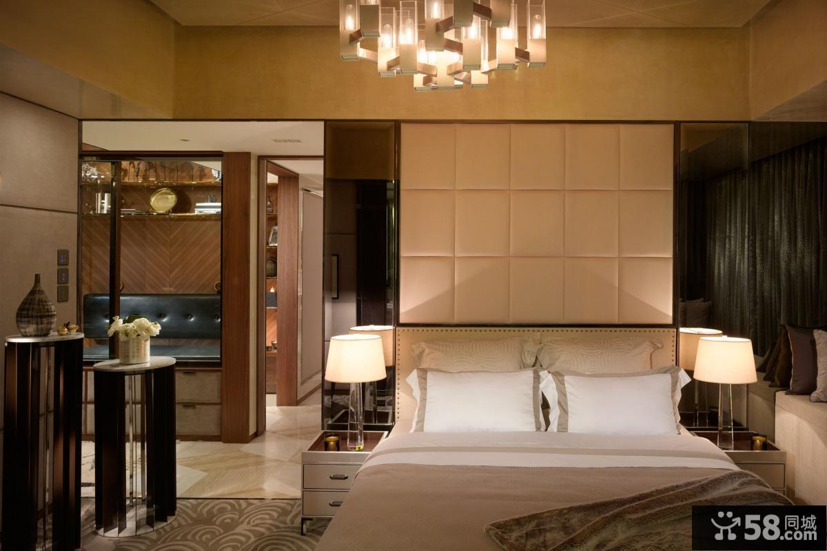 香港住宅现代风格卧室装修效果图大全2012图片