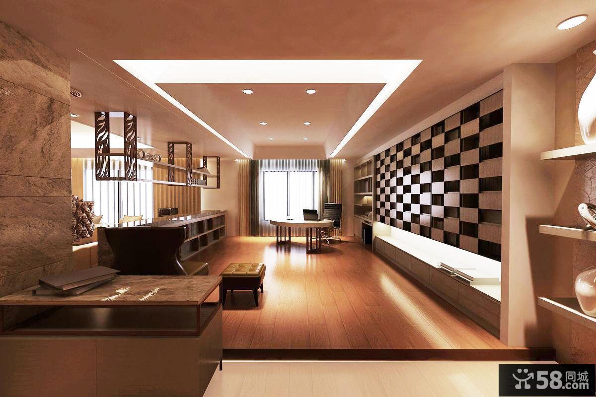 现代深色房屋吊顶装潢图片欣赏 - 58装修效果图