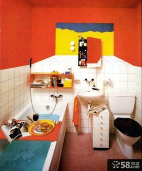 波普艺术风格卫生间效果图