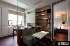现代书房装修设计效果图大全2013图片