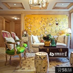 东南亚复式家居客厅装修效果图2014