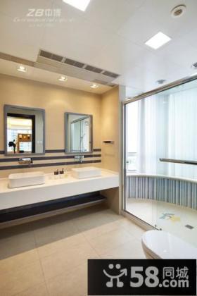 2013现代别墅卫生间装修效果图欣赏