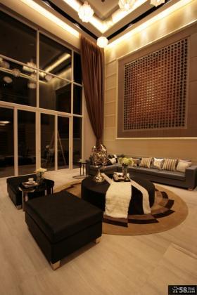 日式风格别墅大客厅装修设计