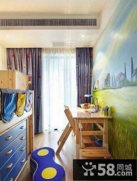 家庭儿童房书桌装修效果图片