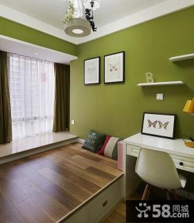 简约时尚两居室书房装修效果图欣赏