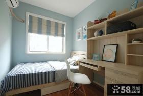 蓝色清新宜家儿童房装修大全