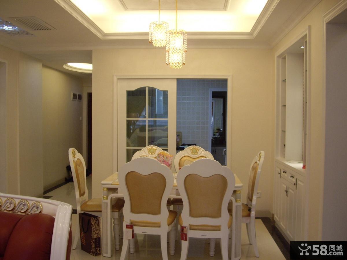 欧式餐厅餐桌效果图片