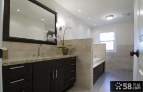 120平美式风格卫生间装修效果图大全2014图片