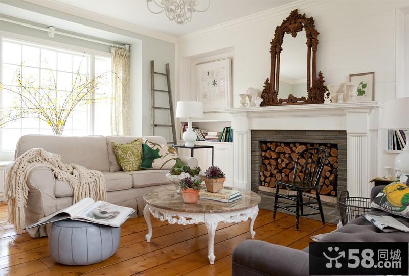 客厅简单电视背景墙效果图