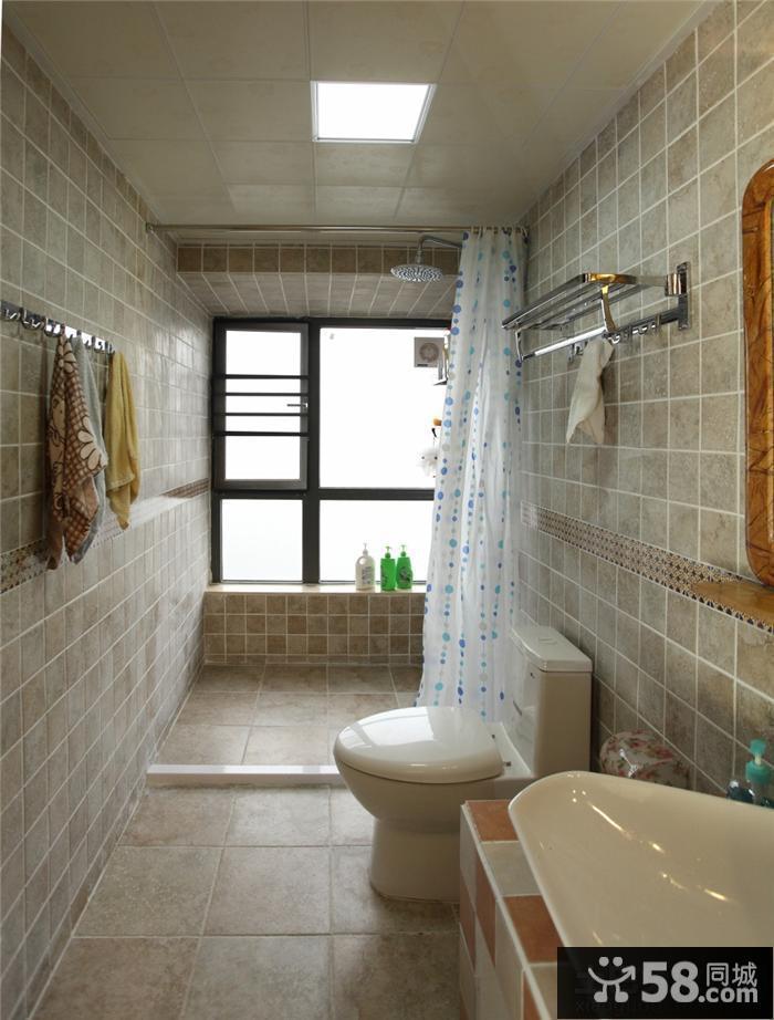 长方形主卫生间装修效果图大全2013图片