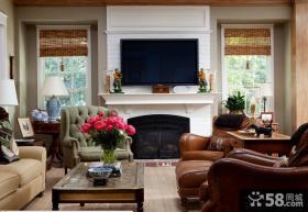 美式客厅电视背景墙效果图欣赏大全