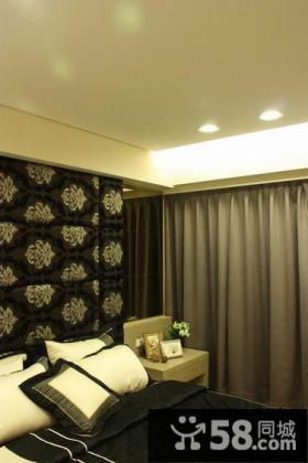 现代典雅卧室局部装饰效果图片