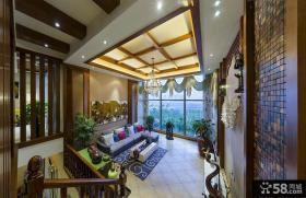 东南亚风格设计三居装饰图片
