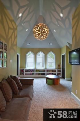 三室两厅欧式风格华丽的客厅装修效果图大全2012图片
