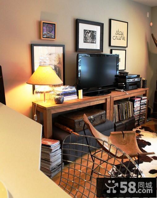 客厅磁砖电视背景墙效果图