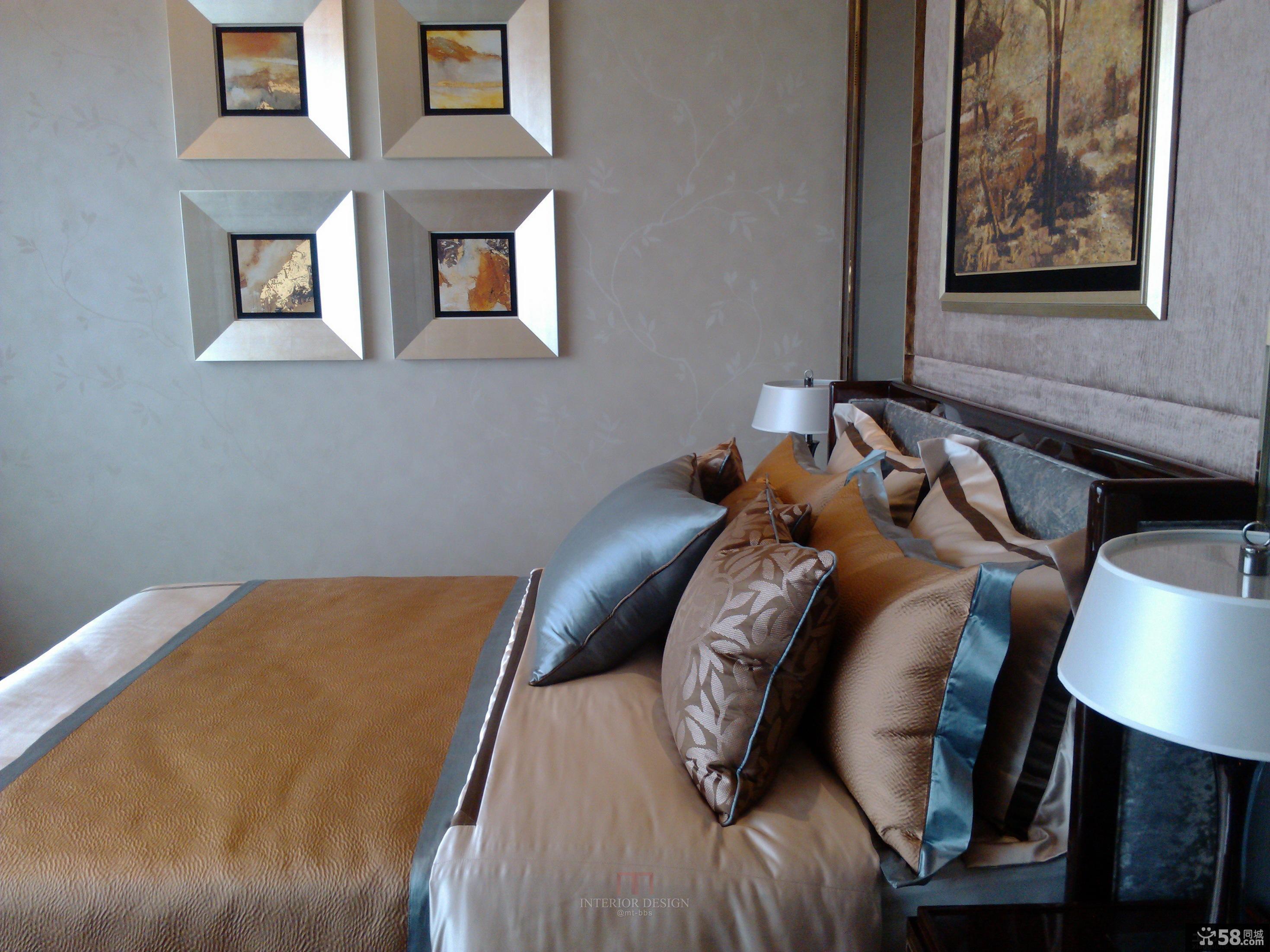 新古典风格卧室墙上装饰效果图