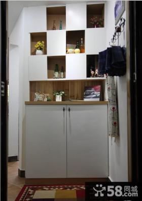 进门鞋柜玄关装修效果图欣赏