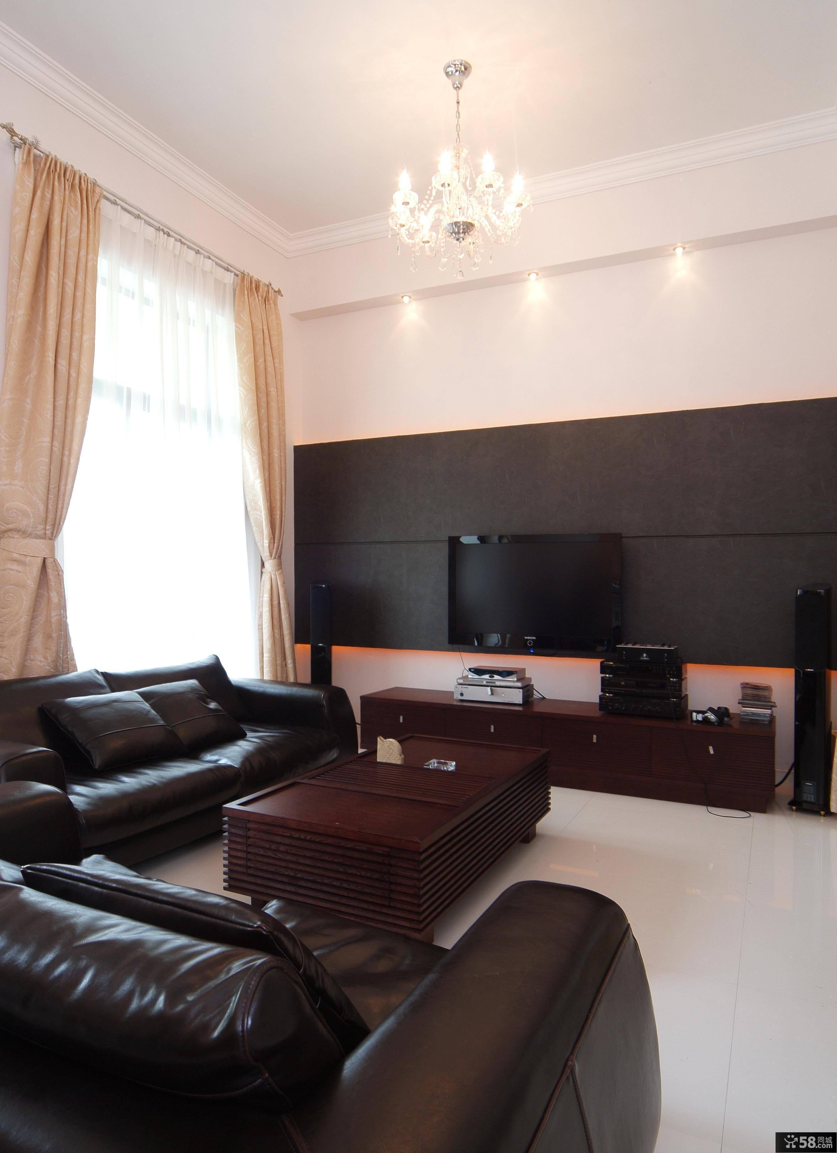 美式风格家居客厅设计装修效果图