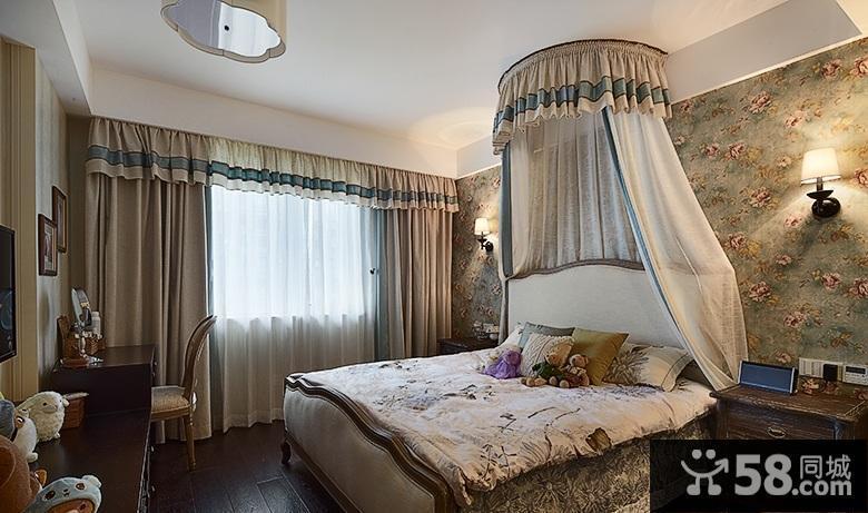玫瑰墙纸卧室