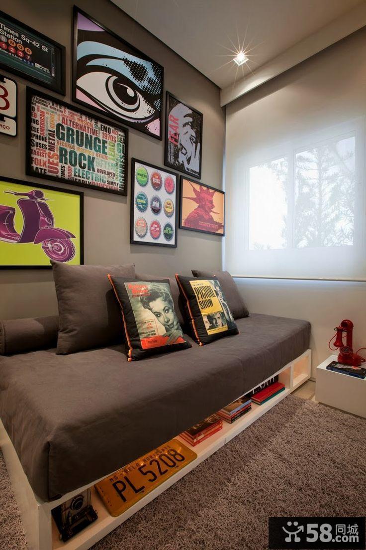 客厅电视背景墙装潢设计效果图
