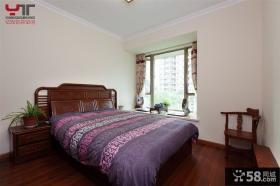 中式风格装修主卧室效果图