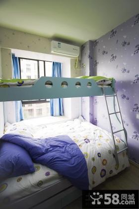 儿童房高低床图片