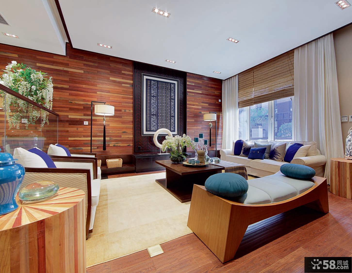 现代混搭风格客厅效果图欣赏
