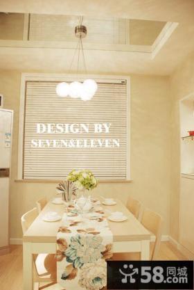 家装餐厅浅咖色墙面漆效果图
