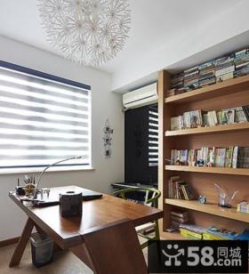 现代小书房装修设计效果图