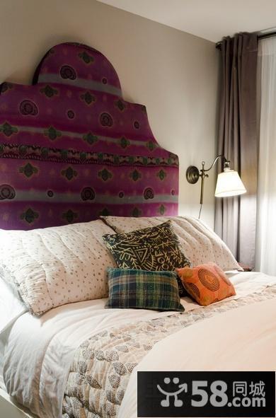 卧室装修效果图大全2012图片 美式卧室床头柜造型效果图