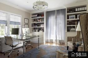 书房简单装修效果图大全2012图片