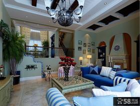 客厅地中海风格装修图片