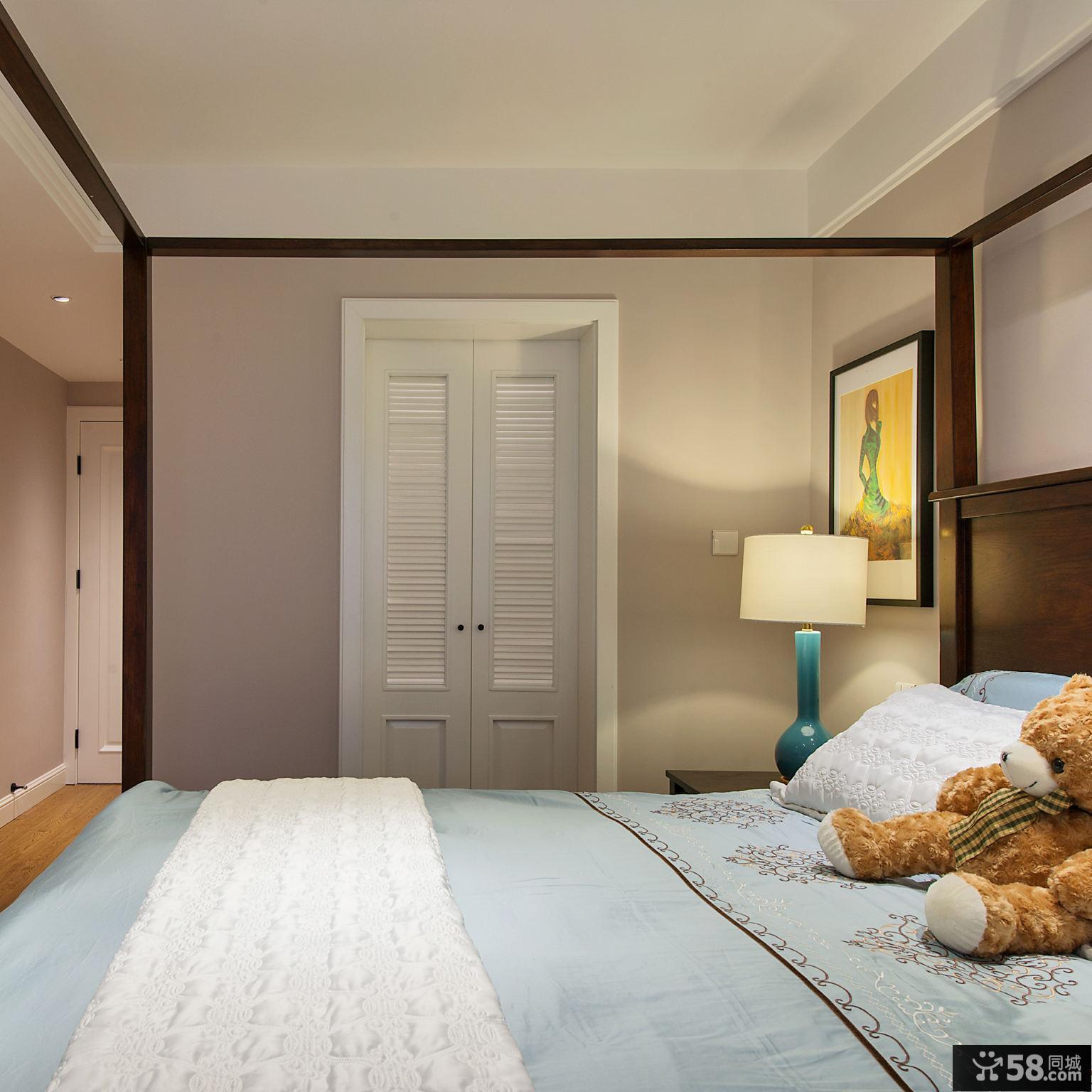 美式风格卧室隐形门创意设计图大全