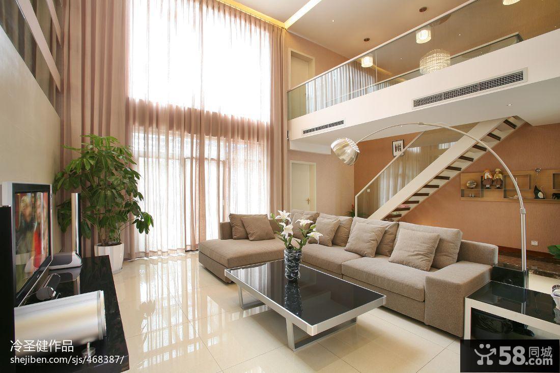 别墅客厅装潢设计效果图