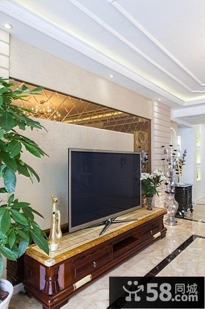 清新电视背景墙壁纸图片