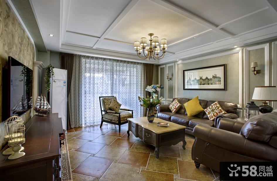 复式客厅沙发背景墙