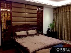 现代中式风格卧室装修图